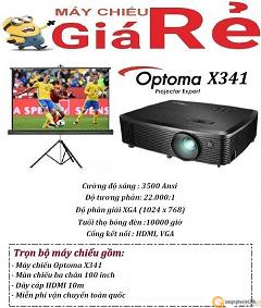 Combo máy chiếu cafe Optoma X341
