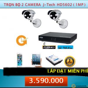 Trọn bộ 02 Camera CNV - JTech (1MP)